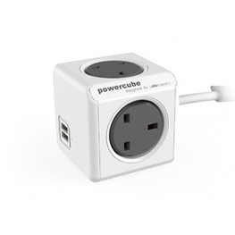 Allocacoc PowerCube 1.5m Extended With Usb